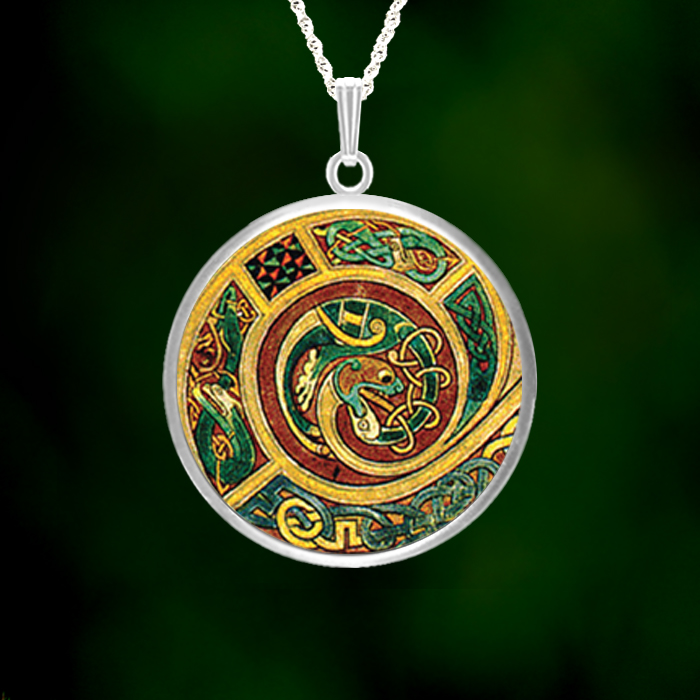 Celtic Dragon Large Pendant Lovell Designs Jewelry In Maine