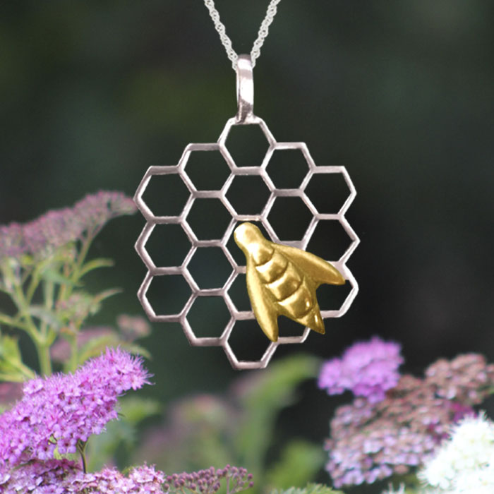 Honey bee pendant lovell designs jewelry in maine honey bee pendant aloadofball Images