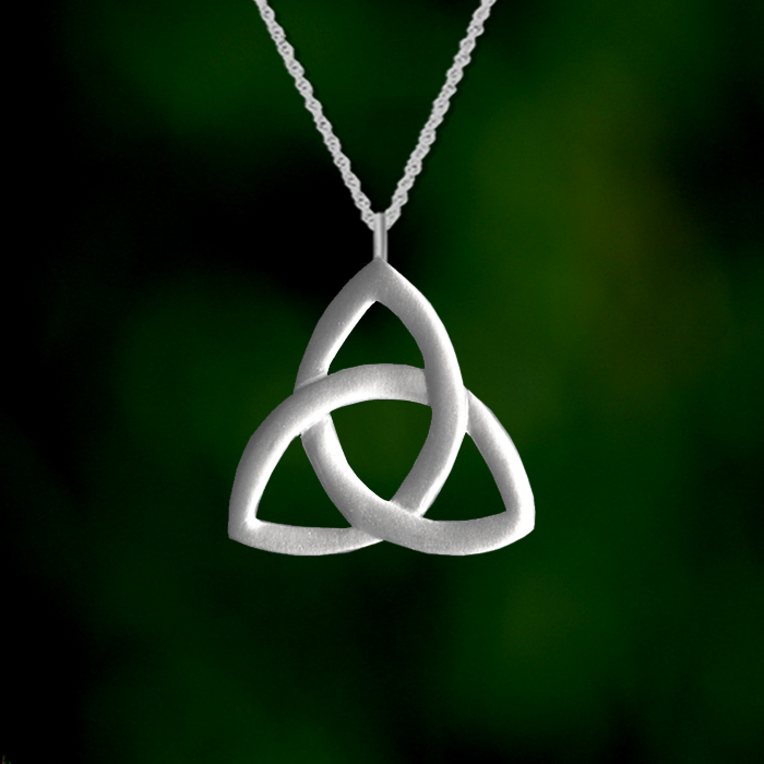 Trinity Celtic Knot Large Pendant Lovell Designs Jewelry In Maine